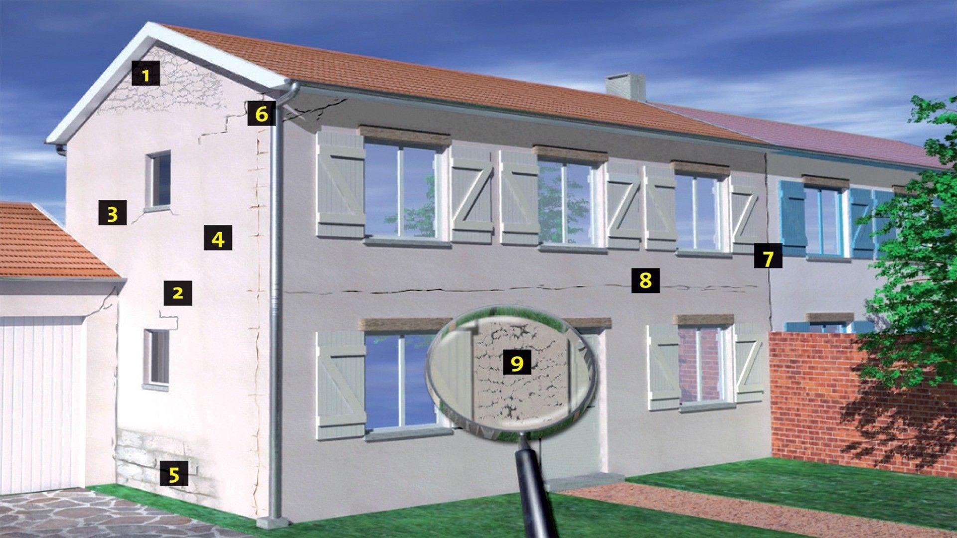 Fissure facade d cryptage en r novation fa ade - Micro fissure maison neuve ...