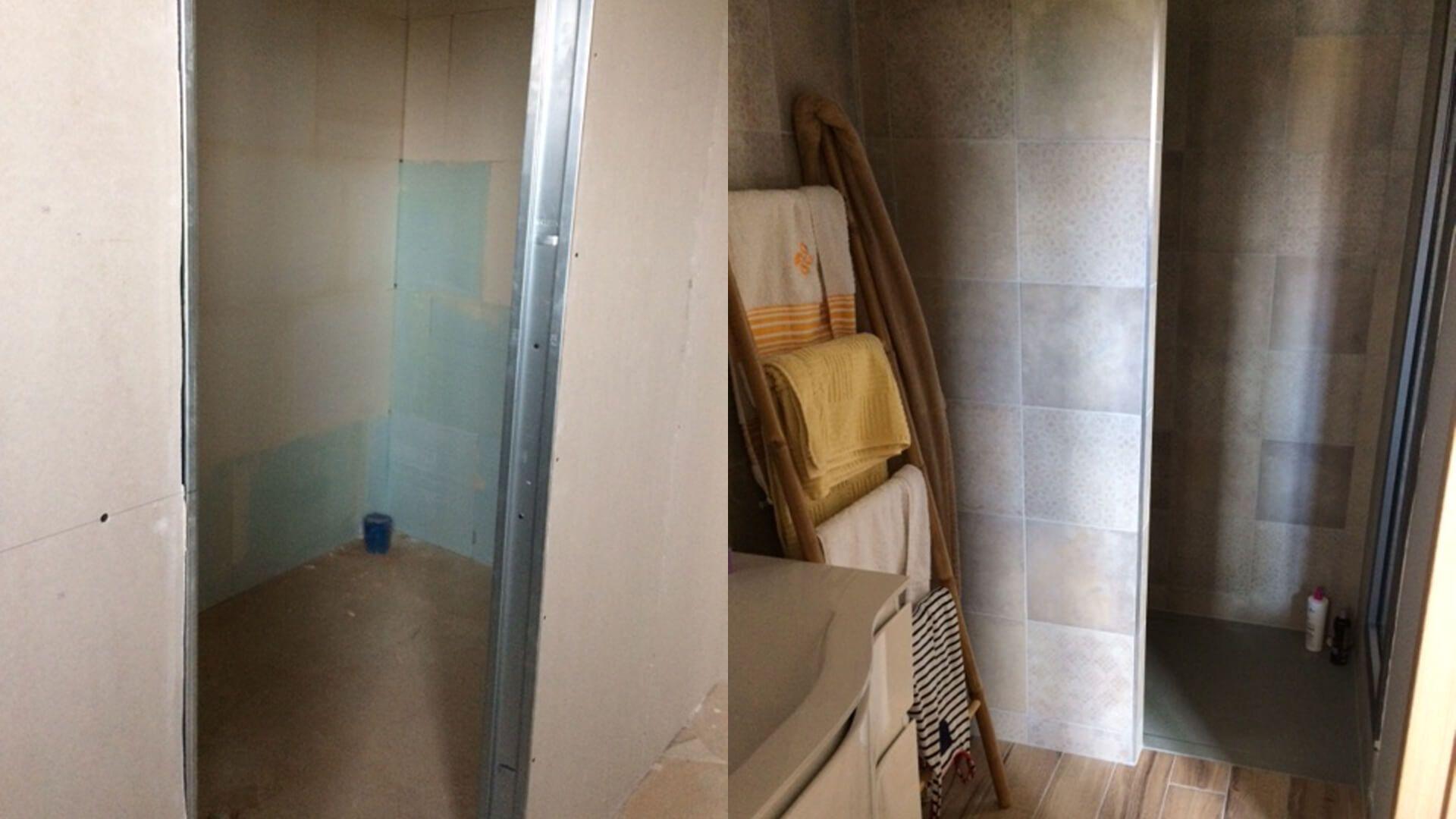 Rénovation Salle De Bain Avant Après rénovation d'une salle de bains des années 70 : avant / après