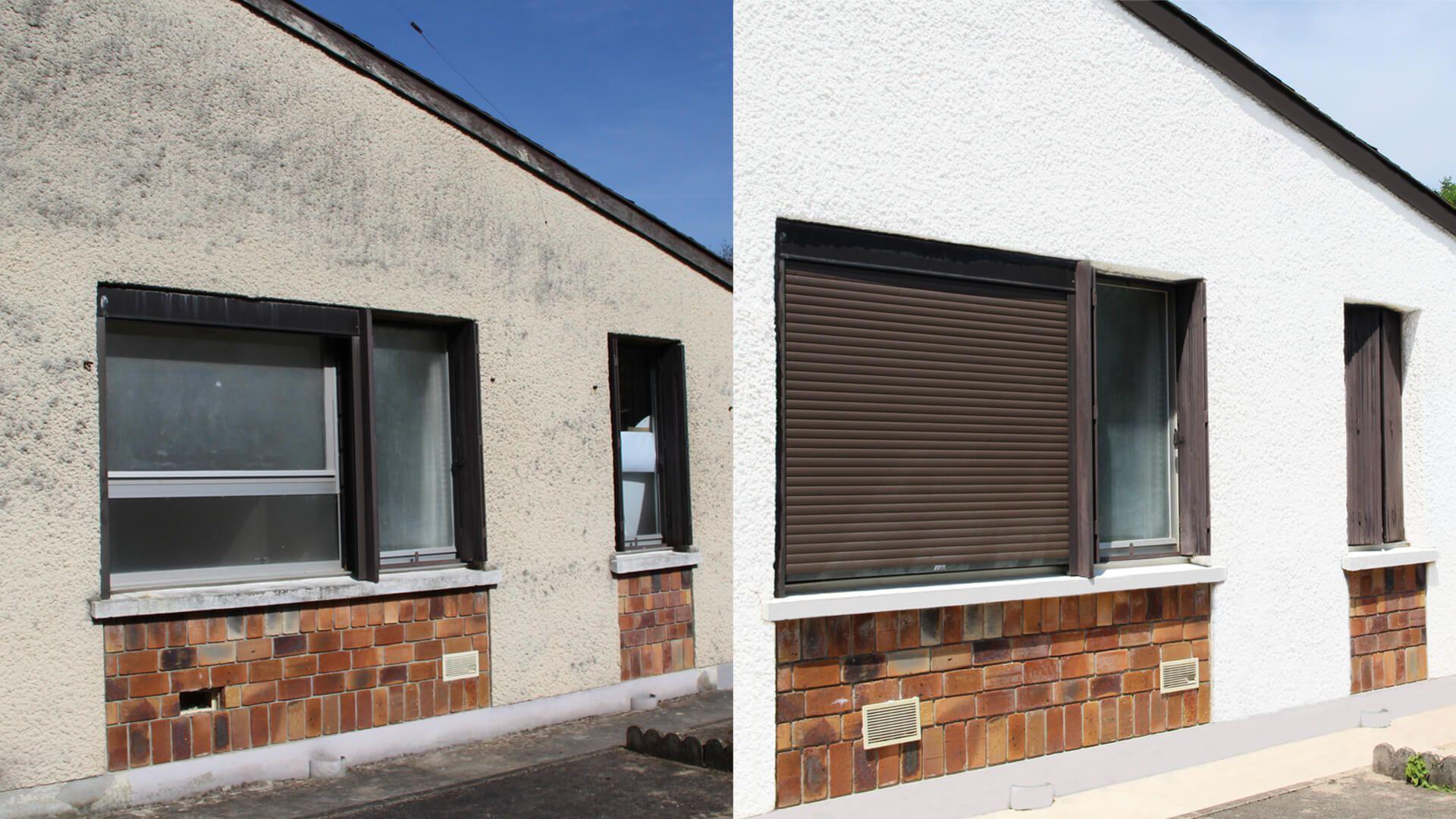 Façade maison : rénovation de façade   Weber