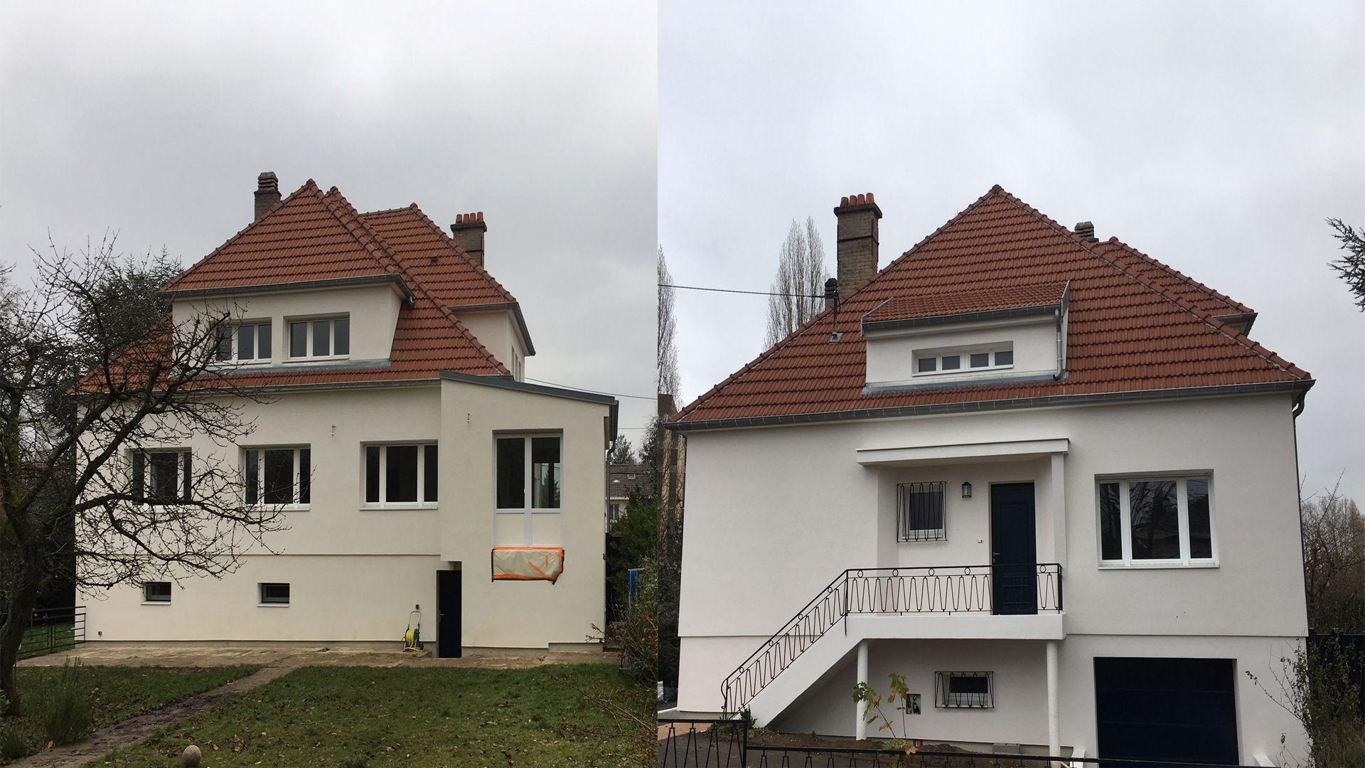 Fa ade maison r novation de fa ade weber - Renover facade de maison ...