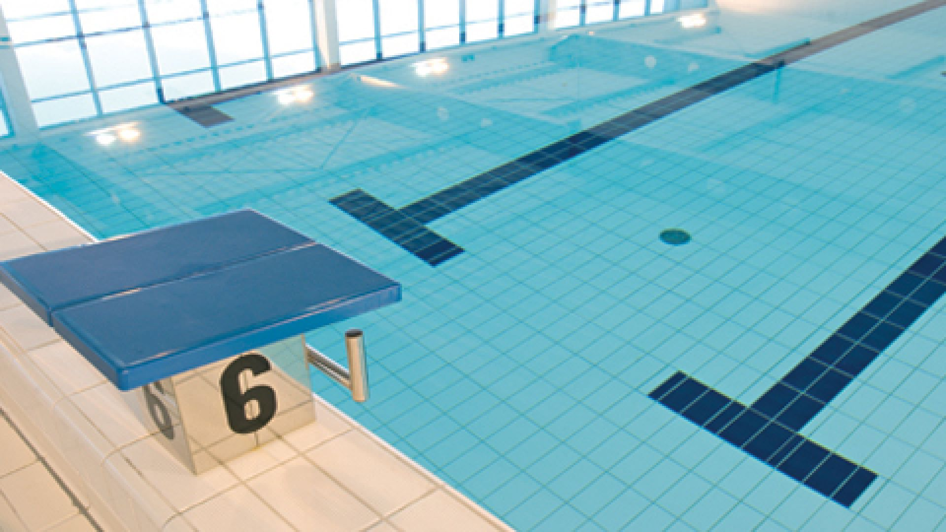 Les pièces à sceller sur la piscine