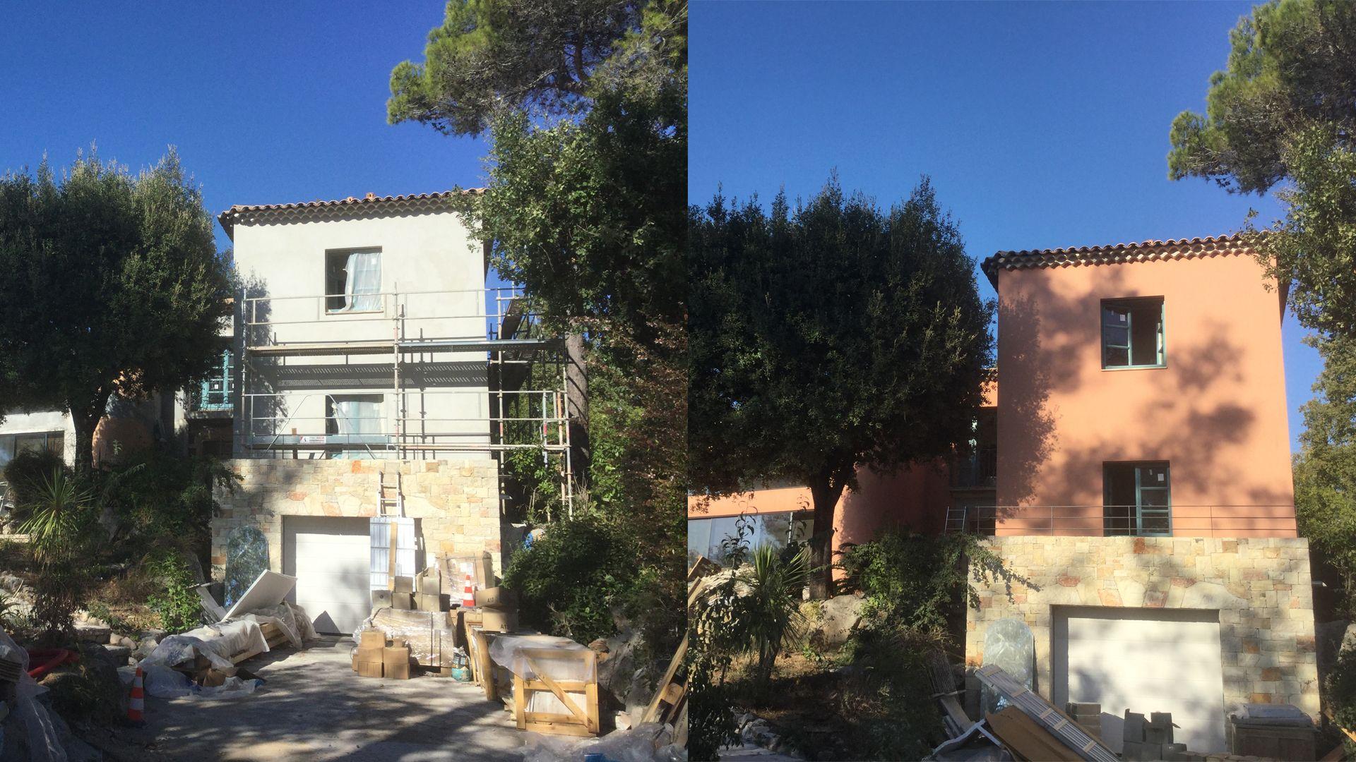 Rénovation De Façade à La Chaux Pour Une Maison à Valbonne (06)