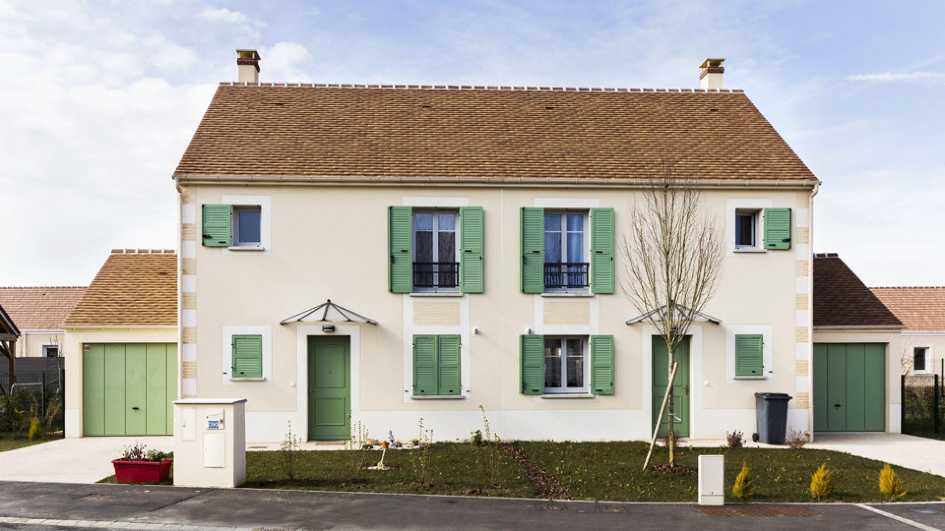 Enduits façades colorés à Nandy (77) | Weber