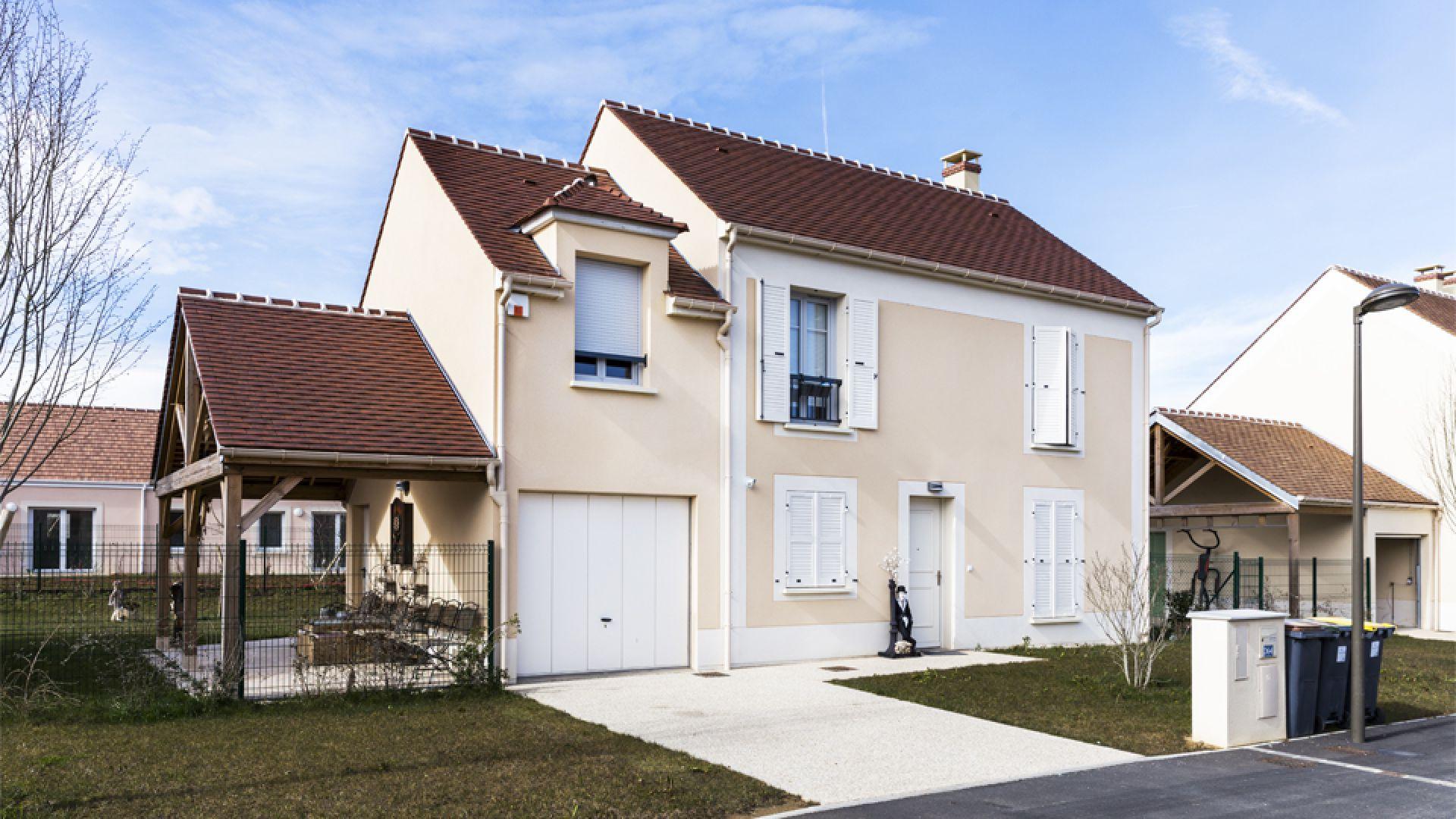 Facades De Maisons En Couleurs enduits façades colorés à nandy (77) | weber