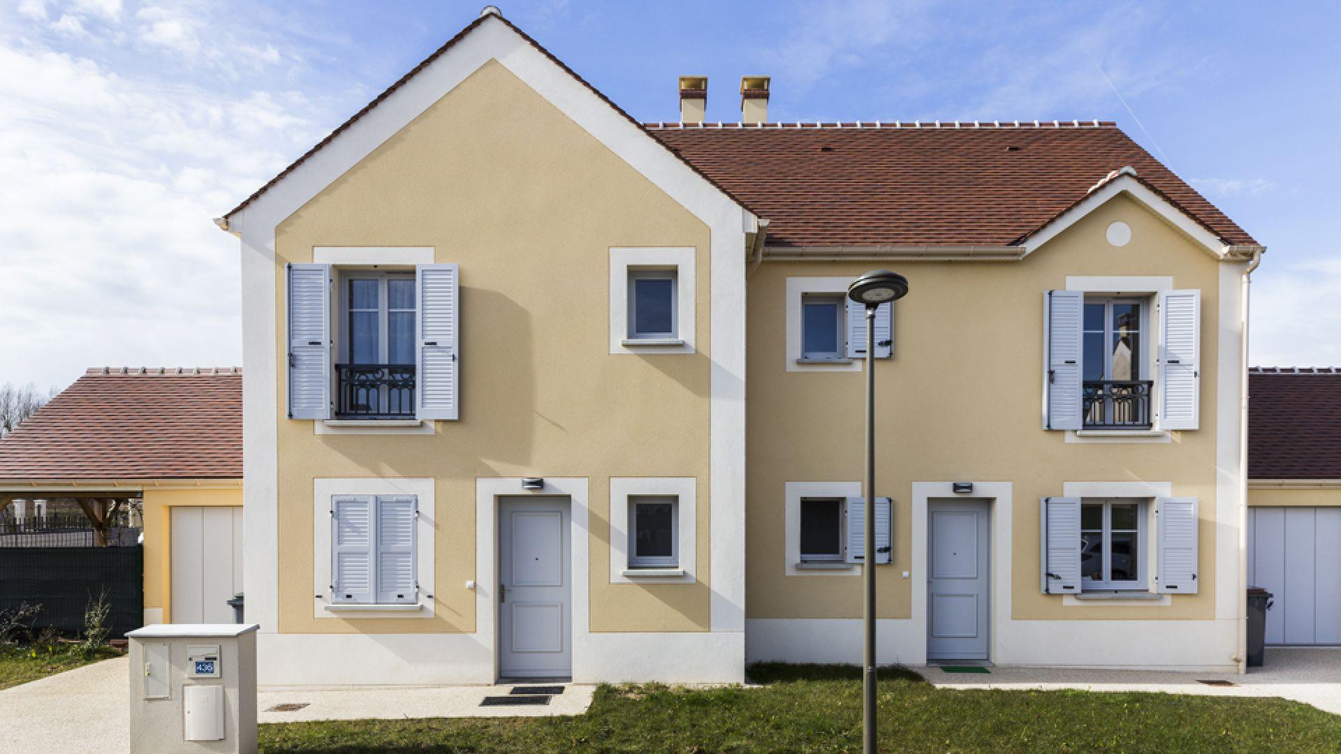 Couleur Façade Maison Ancienne enduits façades colorés à nandy (77) | weber