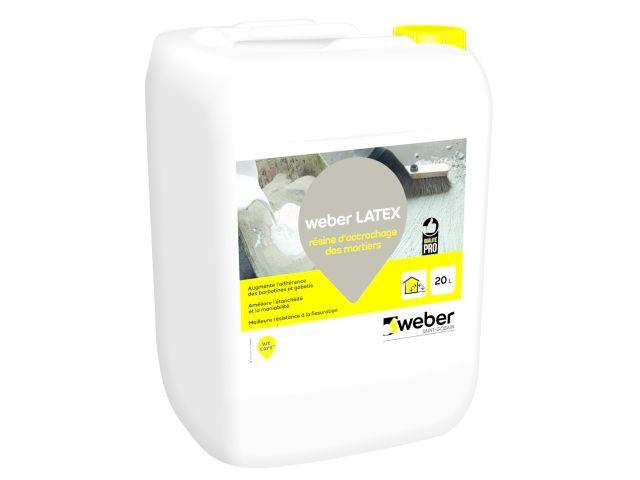 8e1a5155a weber latex : résine d'accrochage pour mortiers et bétons