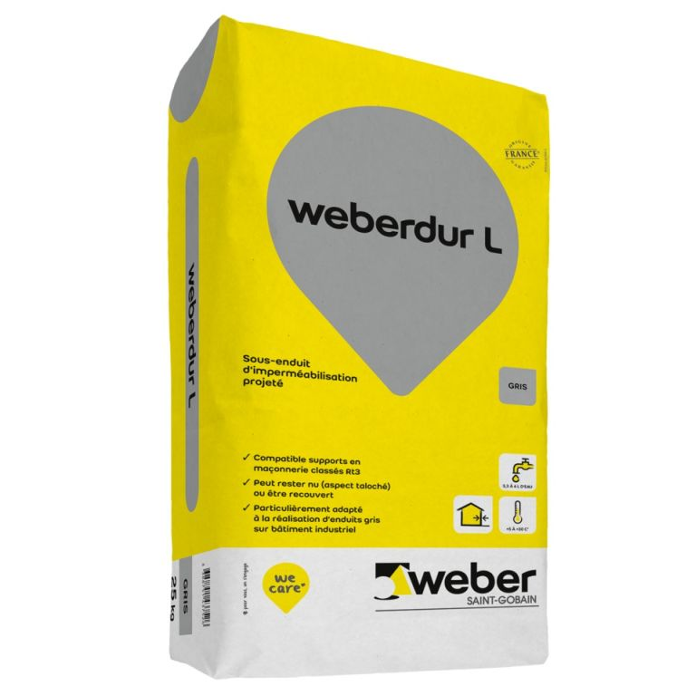 weberdur l sous enduit projet d 39 imperm abilisation l weber. Black Bedroom Furniture Sets. Home Design Ideas
