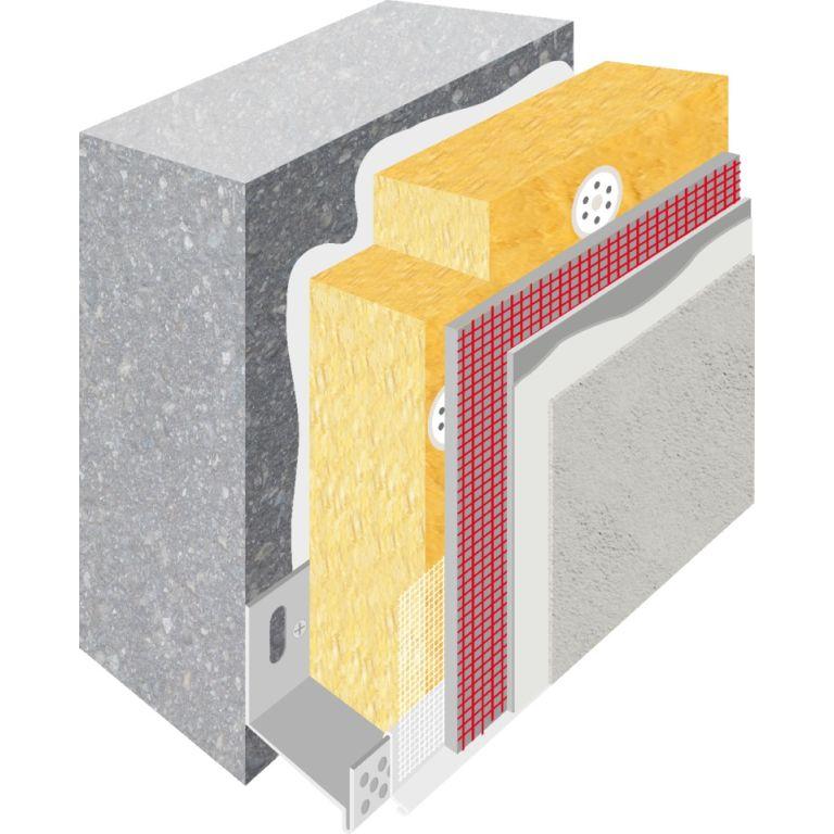 système ITE laine de roche