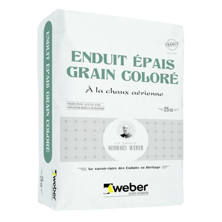 enduit épais grain coloré