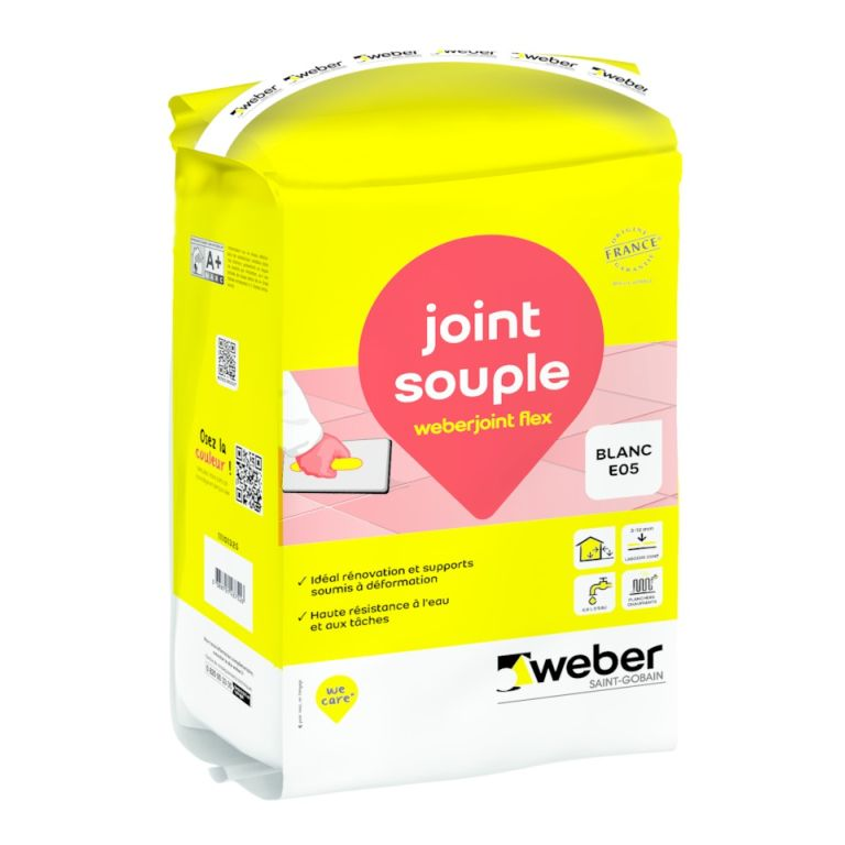 Weberjoint flex mortier pour joints souples d formation for Joint carrelage hydrofuge weber