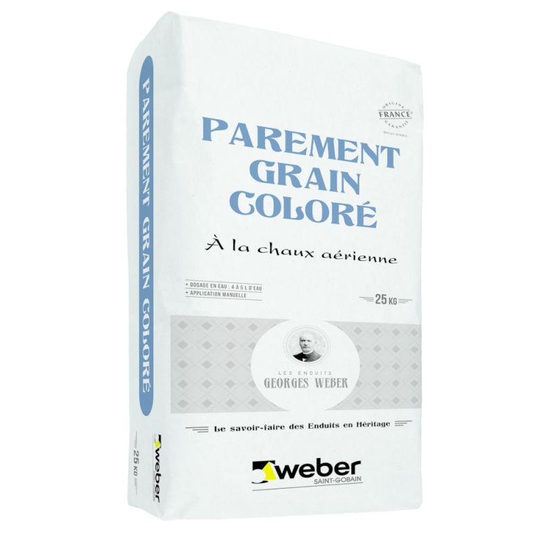 parement grain coloré