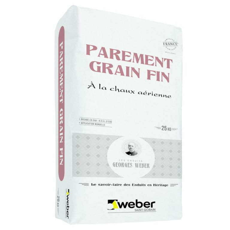 parement grain fin